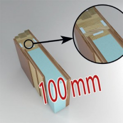 Cross section of the energy-saving door wing (passive) Thickness 100 mm